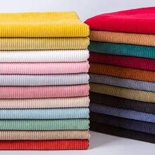 50*150cm em relevo listras de veludo tecido de costura macia para acessórios de cabelo diy costura artesanato materiais