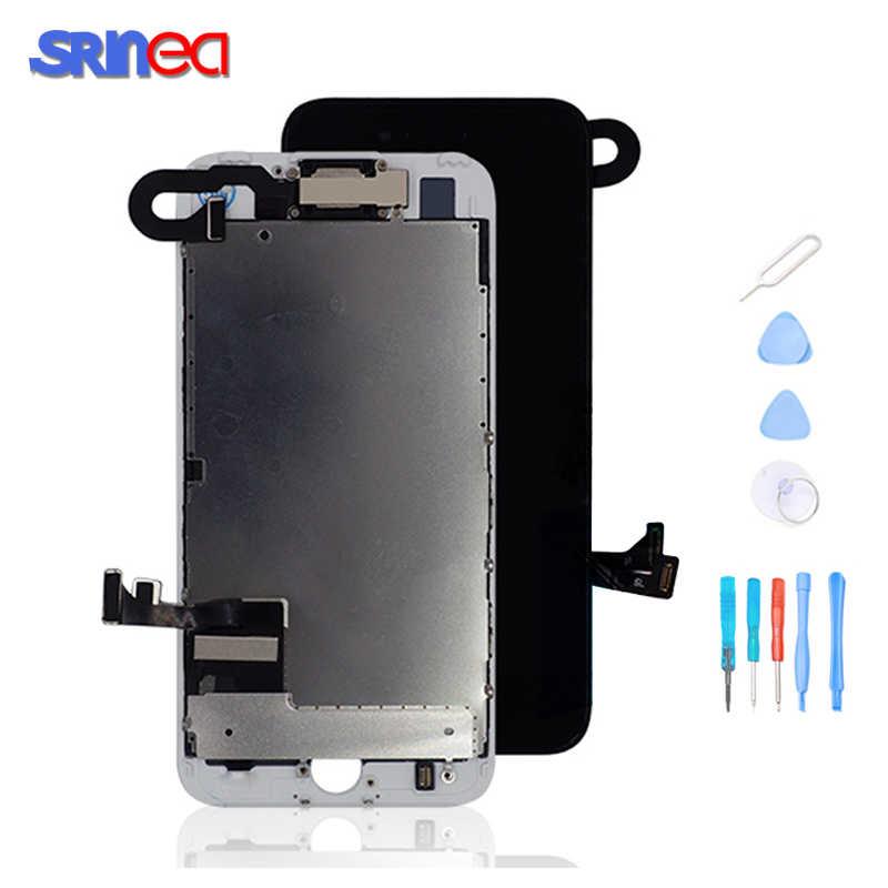 شاشة ل فون 7 شاشة الكريستال السائل الأصلي 8 7 زائد OEM كاملة LCD شاشة و Aigitizer الجمعية كاملة استبدال جيدة 3D اللمس