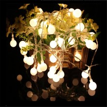 New-7M 50LED Small LED Lamp Lights Game Ball for Christmas Wedding Party Garland Exterior Decoration Holiday Light String Lights(China)