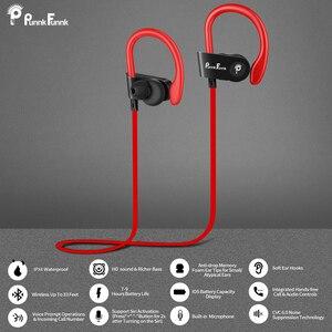 Image 5 - Bluetoothイヤホンワイヤレスヘッドフォンbluetooth 5.0 スポーツヘッドセット防水IPX4 ノイズ重低音ステレオイヤフォン/マイク