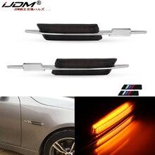 Otomatik LED yan ampul,///M stil füme Lens yan işaret lambaları w/Amber LED ışıklar BMW E90 E92 E60 E81 E87 f30 1 3 5 serisi, vb