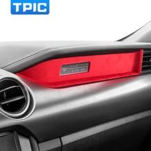 Para ford mustang 2015-2020 alcantara envoltório interior do carro guarnição acessórios instrumento de controle adorno painel decorativo adesivo