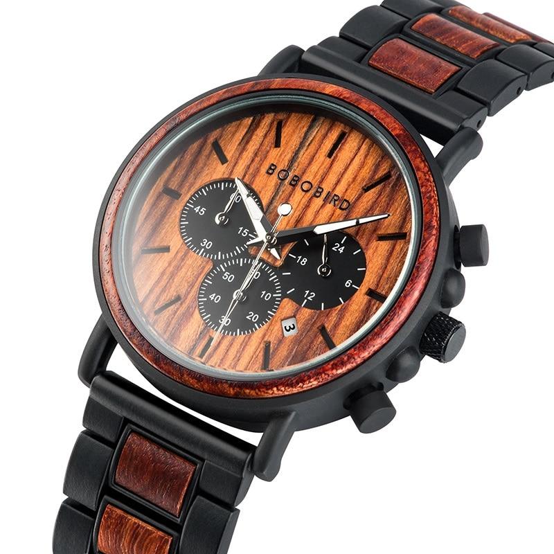 שעון עץ יוקרתי BOBO BIRD 2