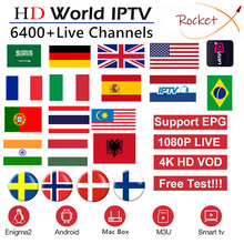 Europe IPTV Subscription France Spain UK Arabic Dutch Sweden German Portugal French Poland Portugal Smart TV IPTV M3U 6000 Live(China)