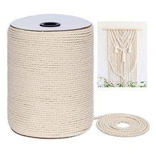 Cuerda de macramé trenzada Diy, cordón de algodón para cuerda Natural hecha a mano, accesorios de boda decoración de la fiesta, 300m x 3 Mm
