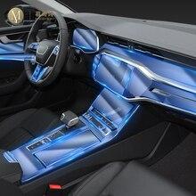 For Audi A6 A7 C8 2019 2020Car Interior Center console Transparent TPU Protective film Anti scratch Repair film Accessories Refi