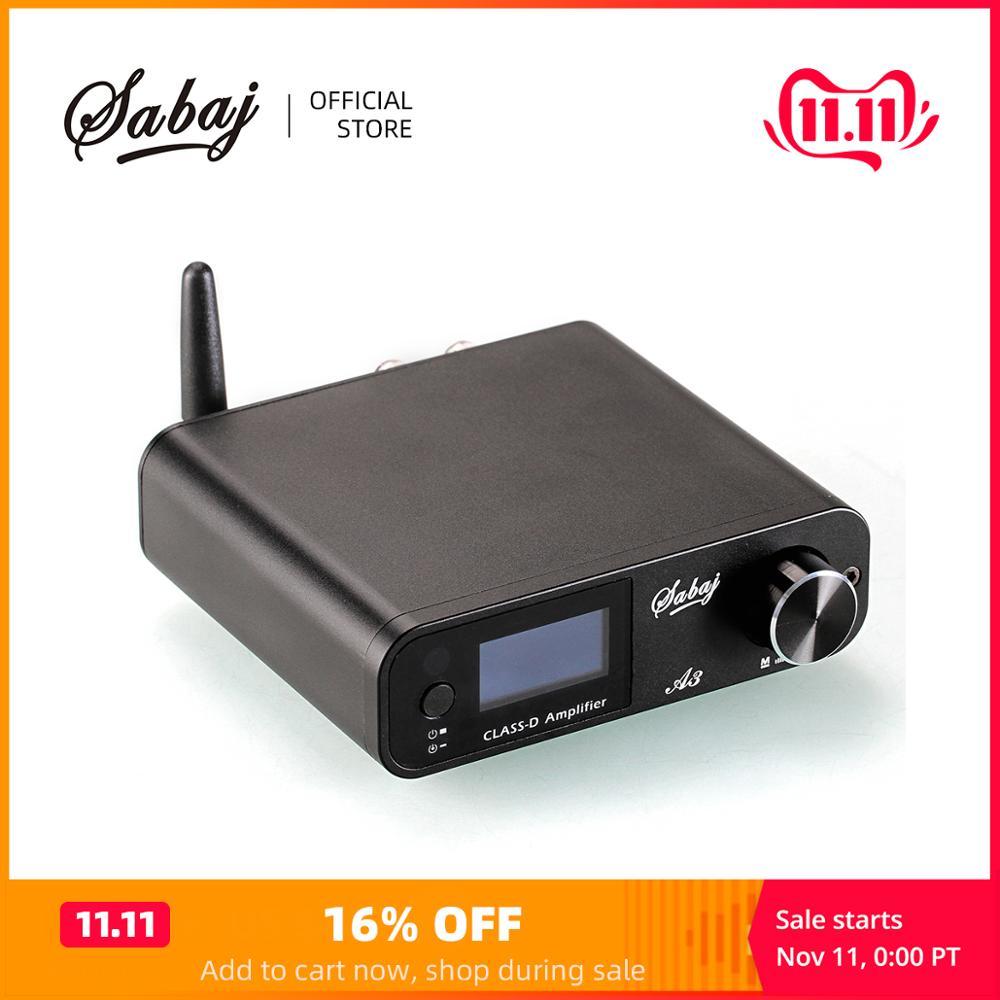 Sabaj A3 80Wx2 Digital Bluetooth Amplifier Portable Audio Hi-fi Hifi Amp Class D USB/Optical/Bluetooth/Aux analog Input BT4.2