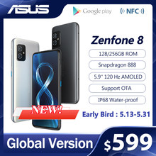 2021 NEUE ASUS Zenfone 8 Globale Version Snapdragon 888 8/16GB RAM 128/256GB ROM 5.9 ''IP68 Wasser-Proof Android OTA 5G Handy