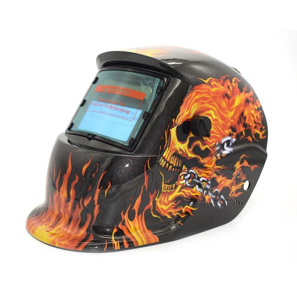 2019 zasilane energią słoneczną automatyczne przyciemnianie TIG MIG MMA elektryczna maska spawalnicza kask czapka spawacza obiektyw do spawarki palnik plazmowy