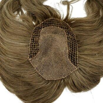 Custom Made Vis Netto Vrouwen Tupee Natuurlijke Menselijk Haar