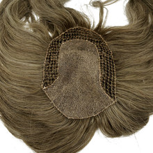 custom made fish net women tupee natural human hair(China)