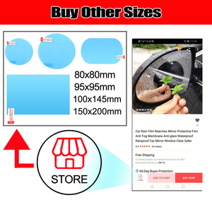 Image 5 - Samochodowa folia przeciwdeszczowa lusterko wsteczne folia ochronna przeciwmgielna membrana przeciwodblaskowa wodoodporny przeciwdeszczowy samochód lustro okno wyczyść bezpieczniej