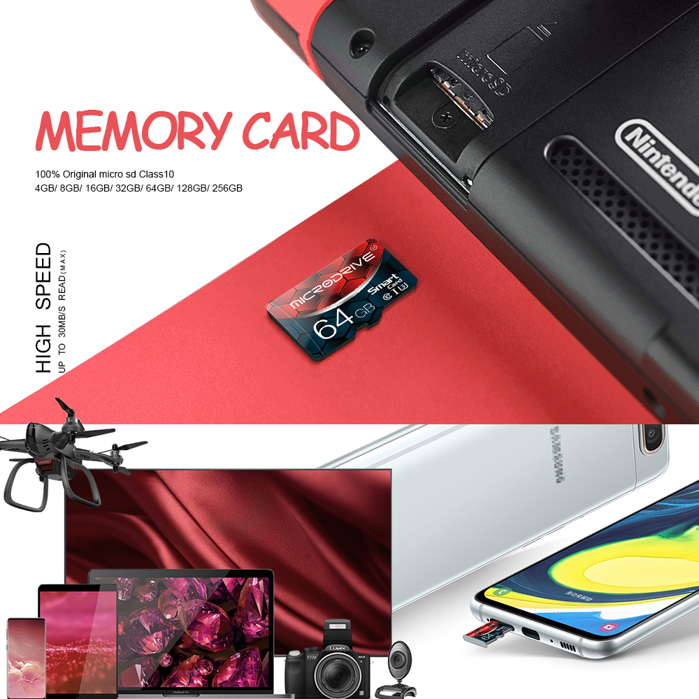 Carte Mémoire Micro SD / TF carte de 16 à 256 Go