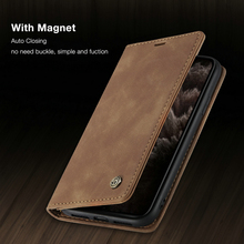 WHATIF Magnetic Flip Leather Case For iPhone X XS XR 11 Pro Max Luxury Phone Case For iPhone 5 6 7 8 S SE Plus PU Wallet cover flip case for iphone 7 case wallet multi cards 360 full protect classic pu leather bags for iphone 5s se 6s 7 8 plus x xr xs max
