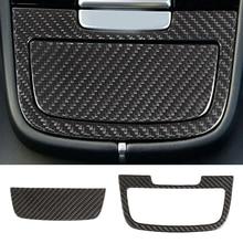 DWCX Carbon Fiber Car Interior Console Ashtray Panel Cover Trim Auto Accessories Fit for Porsche Cayenne 2018 2019