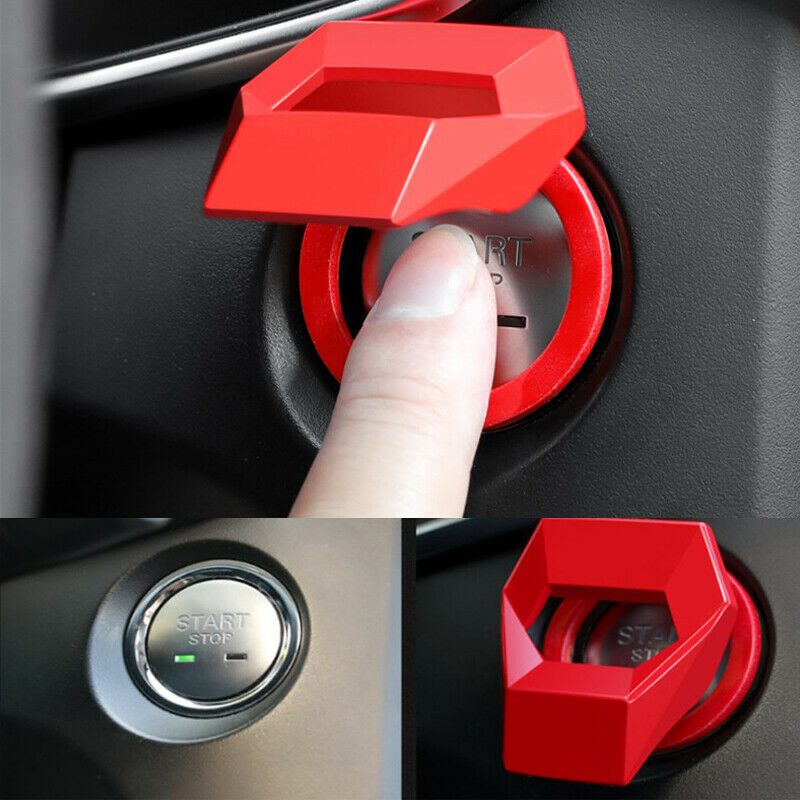 1PCS Mobil Pengapian Switch Dekoratif Cincin Satu Klik Start Stop Dekorasi Stiker Start Stop Engine Push Tombol Pelindung cover