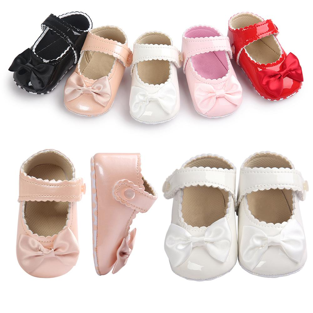 Spot Cheap Sale Baby Bow-knot Prewalkers Reflective Princess Shoes Soft Bottom Anti-slip Toddler Shoes/Infant Child Products