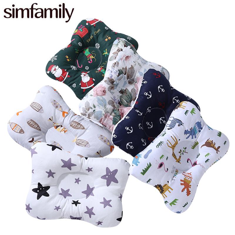 [simfamily]Baby Nursing Pillow Infant Newborn Sleep Support Concave Cartoon Pillow Printed Shaping Cushion Prevent Flat Head