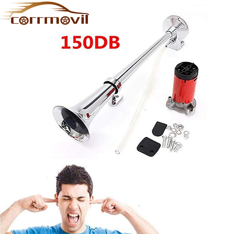 150DB Car Horn Super Loud 12V Single Trumpet Air Horn Compressor for Car Truck Boat Train Horn Hooter For Auto Sound Signal(China)
