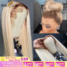 Ombre 613 Lace Front Wig With Brown Roots Brazilian Straight Closure Wigs For Women Human Hair 13x4 13x6 Hd Lace Frontal Wig