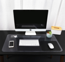 2 Pieces High Quanlity PVC Desk Pad Mouse Pad/Mat,Waterproof Mouse Pad Desktop Pad Protector,Laptop pad for Office and Home недорого