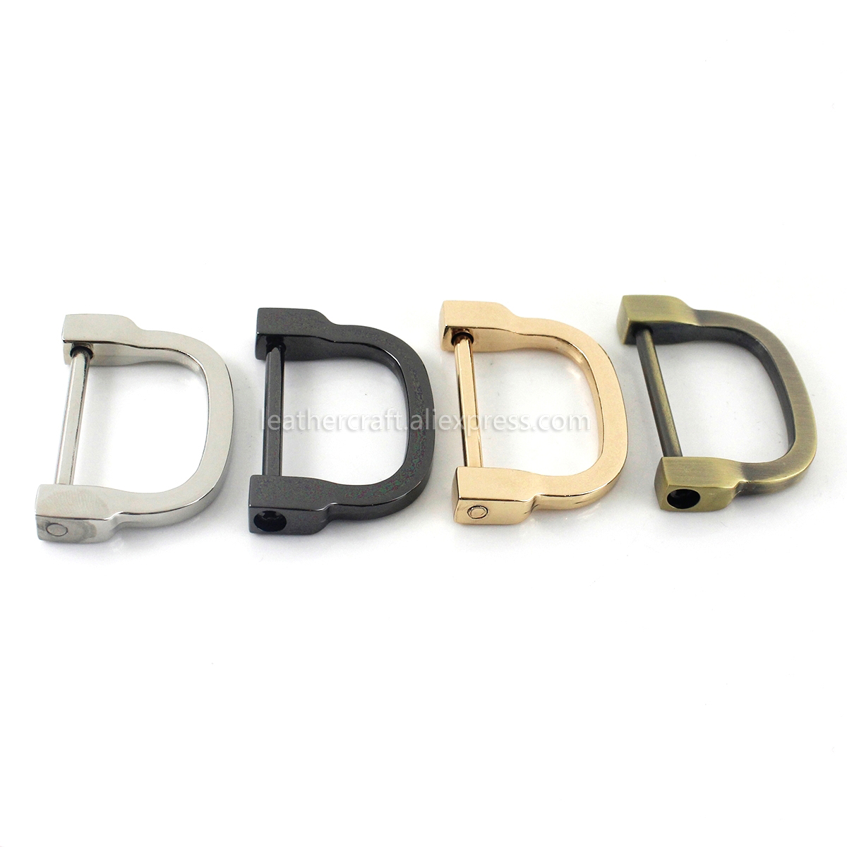 D rings O ring Rectangle square Metal Buckle Loop Webbing Leather Craft X 2pcs