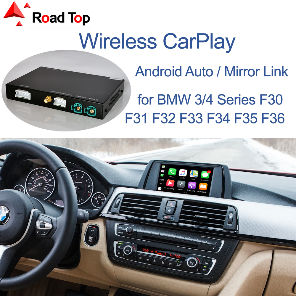 Wireless CarPlay for BMW 3 4 Series F30 F31 F32 F33 F34 F35 F36 2011-2016, with Android Mirror Link AirPlay Car Play Function(China)