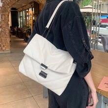 Модная вместительная сумка тоут на цепочке женская мессенджер