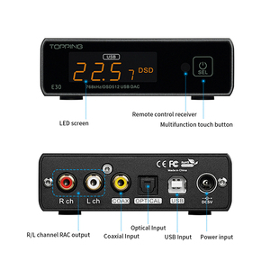 Image 5 - TOPPING E30 dac HIFI XMOS XU208 USB DAC AK4493 32bit/768k DSD512 Hi Res AUDIOwith Remote control COAX OPTICAL DSD Volume Bypass
