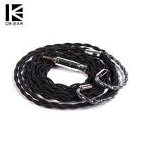 2019 Kbear Single Crystal Koper Kabel 2.5/3.5/4.4 Mm Gebalanceerde Kabel Voor ZS10 Pro Zst C12 C10 blon BL-03 Trn V90 BA5