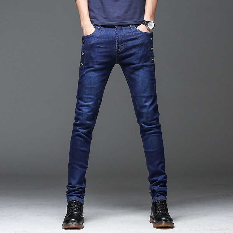 2019 autumn New men Jeans Black Classic Fashion Designer Denim Skinny Jeans men s casual High