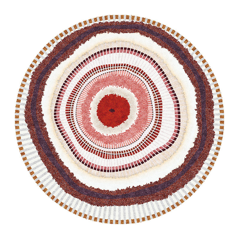 Современный абстрактный ковер для гостиной скандинавский круглый ковер нескользящий коврик для спальни коврик с геометрическим орнаментом защита пола для дома - Цвет: 2