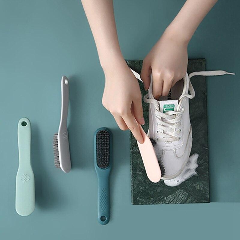 Висячая щетка для обуви с длинной ручкой простая современная