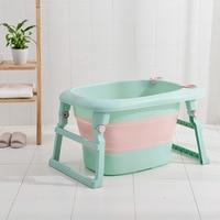 Children folding bath barrel child bath barrel large household can sit baby bath tub bath barrel baby bath barrel