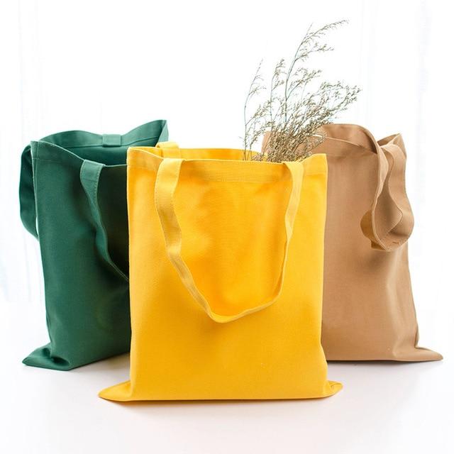 GABWE Unisex Handbags Custom Canvas Tote Bag Print Grocery Daily Use Reusable Eco Cotton Travel Casual Shopping Women Totes 1