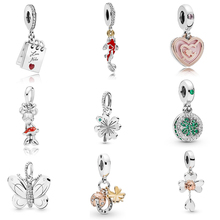 Spring Colletion 100% 925 Sterling Silver Clover Charm Fit Pandora Bracelet Beads For Jewerly Making Gift