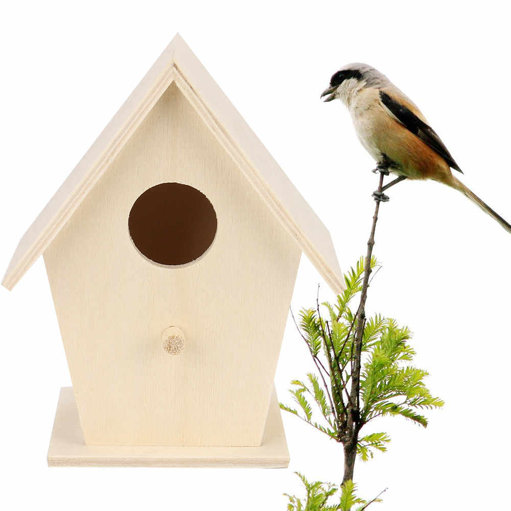 Nest Dox Nest House Bird Box Wooden Box Birdhouse Garden Decor Parrot Cockatiels Swallows High Quality DropShipping