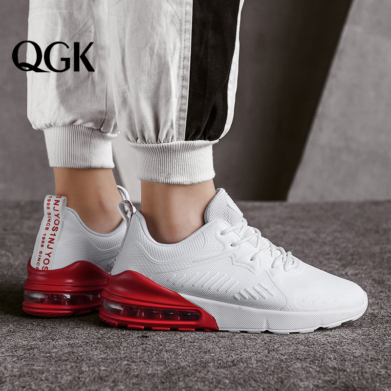 QGK 2019 Men Casual Shoes Lightweight Air Cushion Flats Walking Sneakers Footwear Male Trainers Fashion Classic Sport