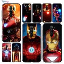 Marvel Super Hero Avengers Iron Man For Xiaomi Redmi 9A 9C 9 Prime GO 8A 7A 6A 5A 4X S2 Pro Plus TPU Silicone Black Phone Case