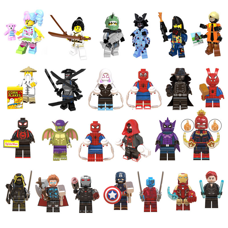 Marvel Avengers 4 Endgame Captain America Iron Man Thanos Hulk Building Blocks Legoed  Figures Ninja Motorcycle Toys For Kids