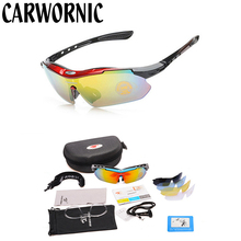 Polarized 5 Lens Cycling Glasses Outdoor Sports Bike Cycling Eyewear Cycling Sunglasses MTB Mountain Bicycle Cycling Goggles cheap Polycarbonate 41mm Cycling glasses-0089Polarized Multi 144mm