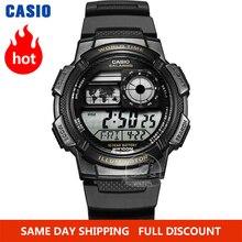 Casio часы мужские модные кварцевые наручные часы со светодиодной подсветкой роскошные водонепроницаемые спортивные цифровые часы для мужчи...