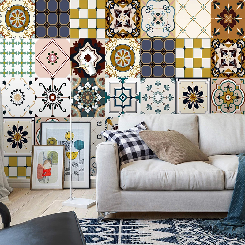 Custom 3D Wallpaper European Retro Bohemian National Style Geometric Pattern Murals Living Room Bedroom Background Wall Papers