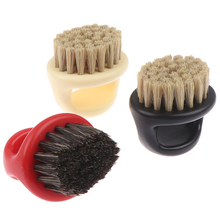 1Pcs Plastic Portable Barber Beard Brushes Salon Face Cleaning Razor Brush Ring Design Horse Bristle Men Shaving Brush