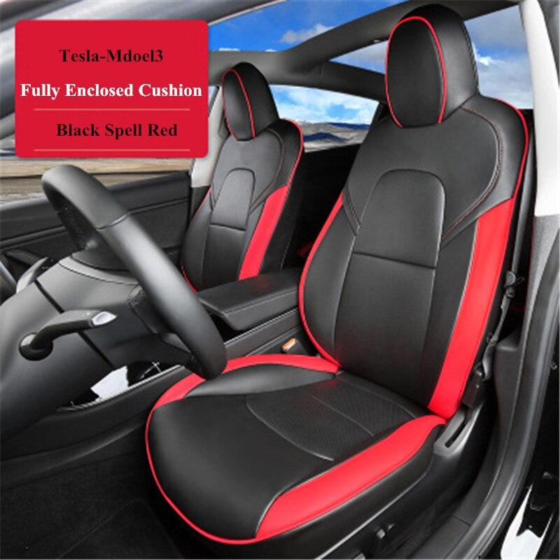 Housse de siège de voiture en cuir résistant à l'usure quatre saisons universel pour TESLA MODEL3 accessoires Auto style de voiture intérieur