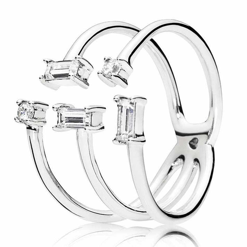 עלה זוהר קרח מיקי וminnine צללית עכשווי פרל עם קריסטל להרחיב טבעת 925 כסף סטרלינג DIY אירופה תכשיטים