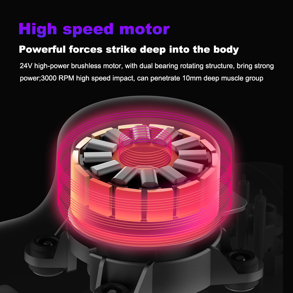 Image 4 - Electric Muscle Massager Percussive Vibrating Powerful Massage Guns Deep Tissue Muscle Massager for Neck Back Shoulders Foot Leg-in Massage & Relaxation from Beauty & Health