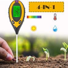 Toprak pH test cihazı, 3/4 in 1 PH işık nem asitlik test cihazı toprak test nem ölçer bitki toprak test kiti çiçekler için
