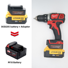 For Dewalt Battery Converter 18V/20V MAX Lithium Battery Convert To  Milwaukee M18 18V Lithium Battery Power Tool Accessories power tools battery adapter for milwaukee m18 18v li ion battery convert to makita 18v 20v bl series lithium batteries adapter