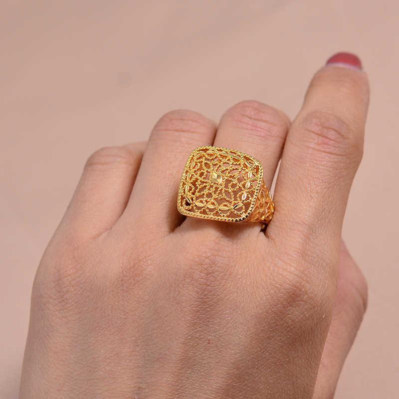 Wando נשים טבעת זהב צבע ופליז האתיופית הכלה חתונה טבעת אפריקה תכשיטי/ערבי טבעת/ניגריה/אמצע מזרח